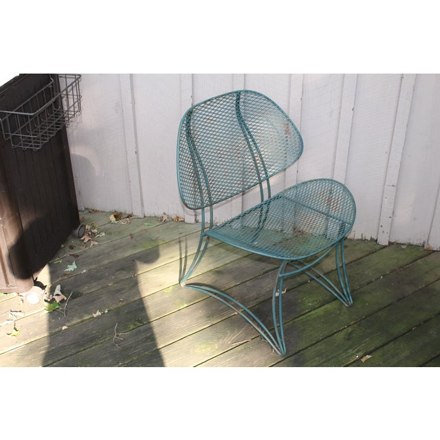 Mid-Century Modern Tempestini Mid-Century Outdoor Clam Chairs - Pair For Sale - Image 3 of 3