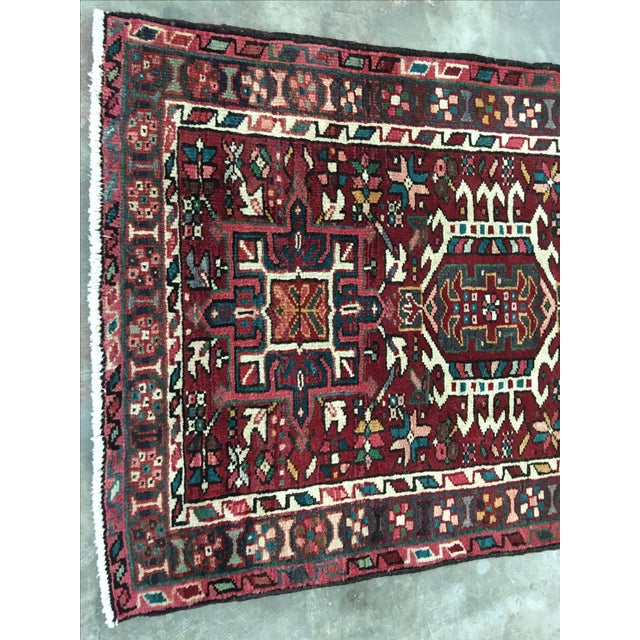 "Vintage Karajeh Persian Runner - 3'8"" X 9' - Image 3 of 9"