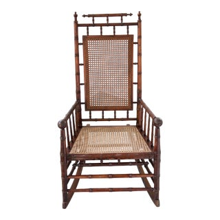 Late 19th C. Vintage Aesthetic Movement Rocking Chair For Sale