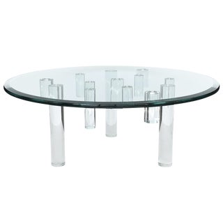 Sculptural Round Lucite Coffee Table