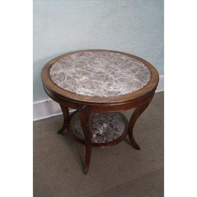 Drexel Heritage Mahogany Regency Center Table - Image 2 of 10