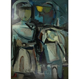 C P 1970-80 Figurative Abstract Painting For Sale