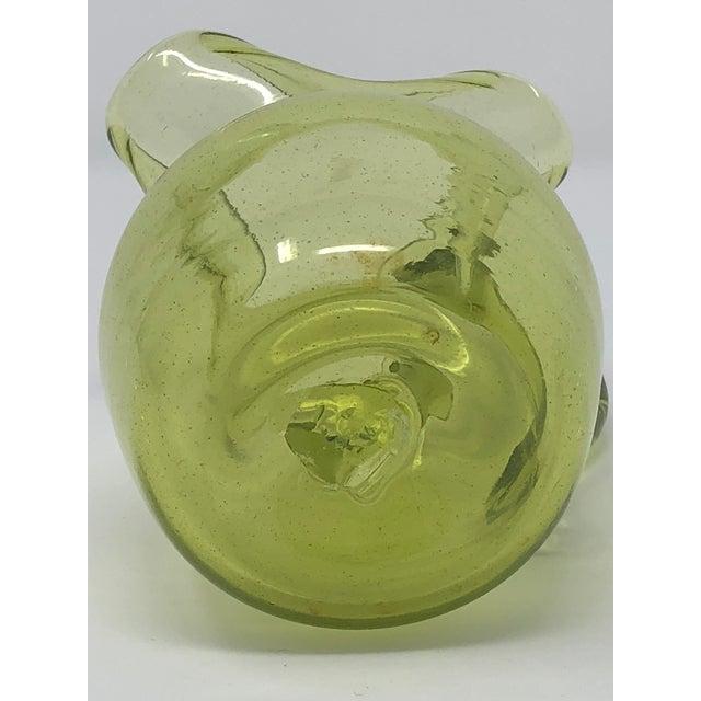 Blenko Blenko Hand Blown Glass Small Pitcher For Sale - Image 4 of 5