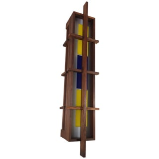 Frank Lloyd Wright Style Sconce Light, Circa 1960 For Sale