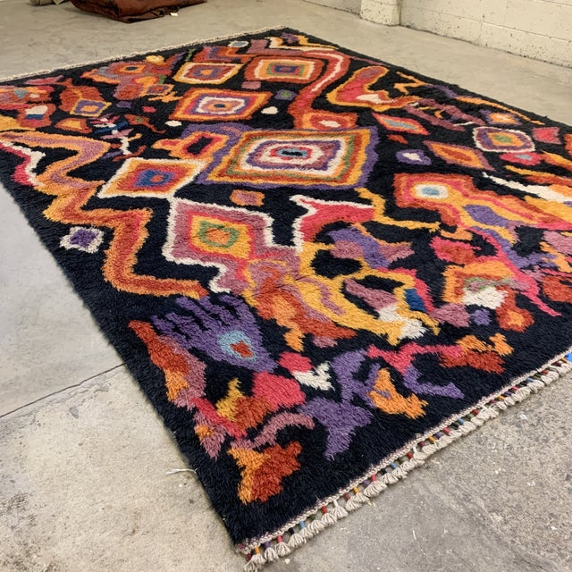 "Turkish Moroccan-Style Shag Rug 8'9""x13'3"" For Sale - Image 4 of 12"