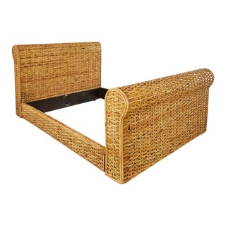 Ralph Lauren Home Polo Collection Woven Rattan Bed For Sale