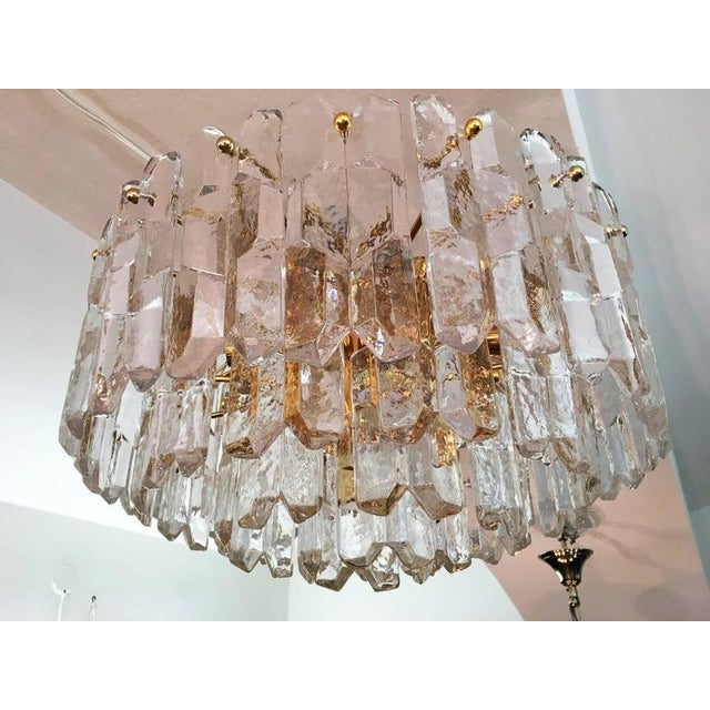 Large Palazzo Frosted Glass Chandelier by JT Kalmar, 1970s For Sale - Image 6 of 11