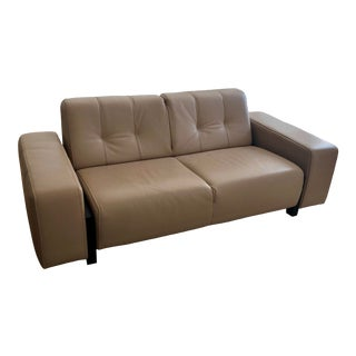Polaris Loveseat in Camel Leather For Sale