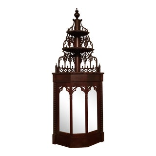 Antique Victorian Gothic Etagere For Sale