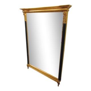 Carvers' Guild Regency Style Gilt & Ebonized Mirror For Sale