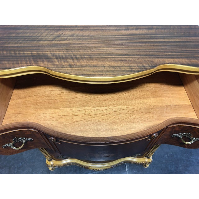 Vintage French Provincial Louis XV Style Inlaid Mahogany Chest on Chest For Sale - Image 10 of 13