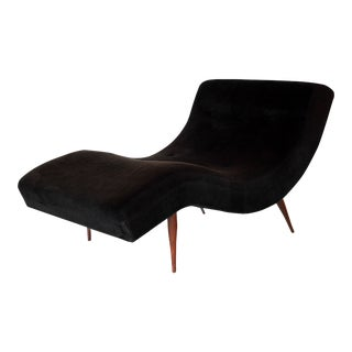 Adrian Pearsall for Craft Associates Mid-Century Modern Wave Chaise Lounge Chair For Sale