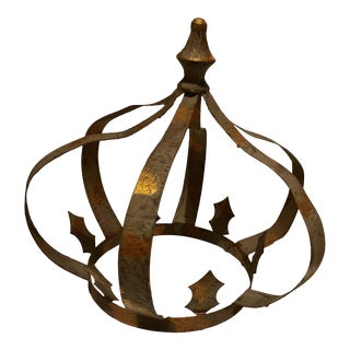 Large Metal Crown Accent For Sale