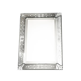1940's Vintage Venetian Hand Etched Mirror For Sale