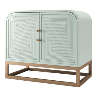 Avery Credenza - Turquoise Mist For Sale