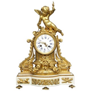 Early 19th Century Antique French Louis XVI Style Figural Clock For Sale