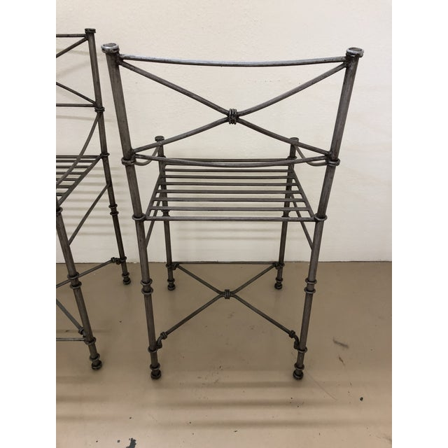 Giacometti Style Counter Stools - Set of 4 For Sale In Richmond - Image 6 of 9