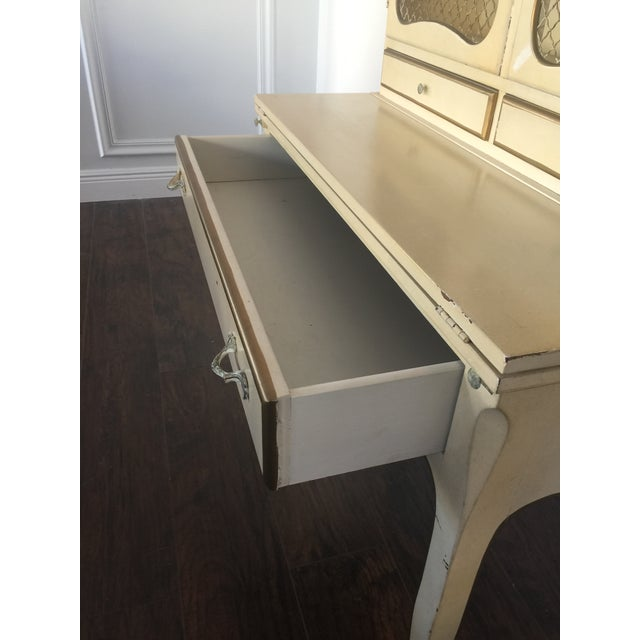 French Provincial Secretary Desk With Mesh Doors - Image 9 of 11