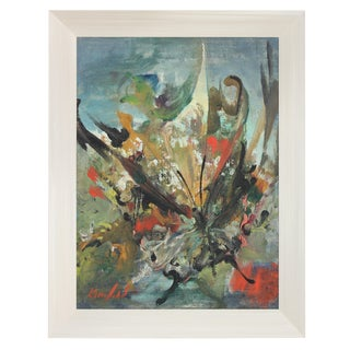 Mid Century Modernist Abstracted Butterfly in Oil, Circa 1960s