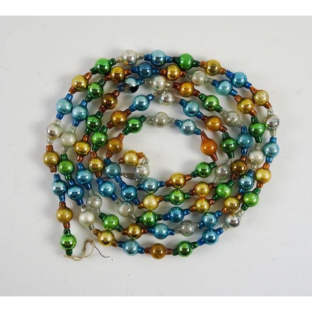 Vintage Glass Ball Christmas Garland