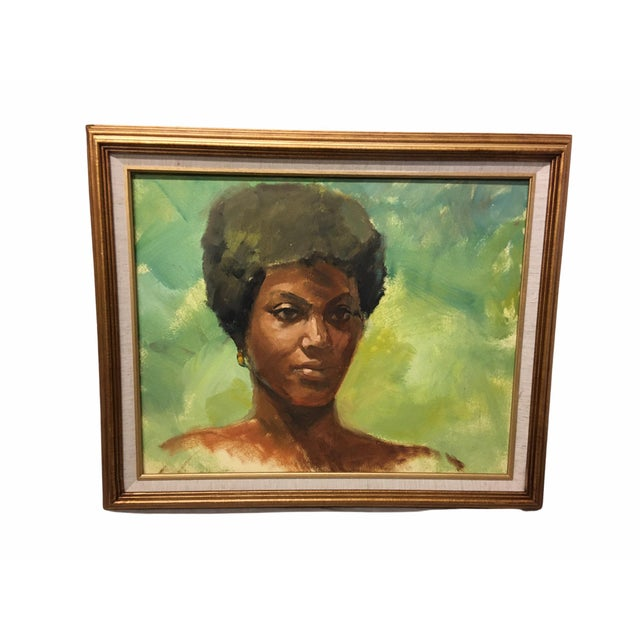 Green Vintage Mid-Century Oil on Masonite Portrait by Dolores Pharr Smith (D'Pharr) For Sale - Image 8 of 8