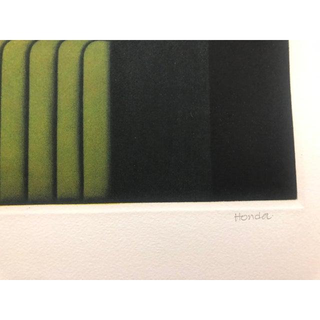 """Modern Kazuhisa Honda Modern Mezzotint """"Park"""" 1980s For Sale - Image 3 of 7"""
