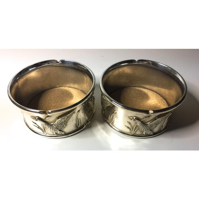 2 Vintage Silver Wine Coasters-Duck Hunting - Image 2 of 5
