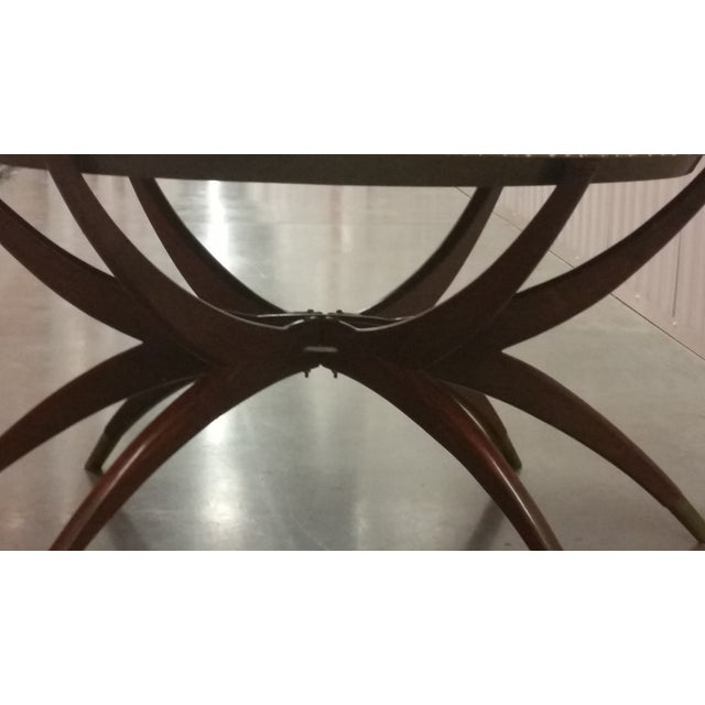 Mid-Century Brass Top Moroccan Style Coffee Table For Sale In Phoenix - Image 6 of 11
