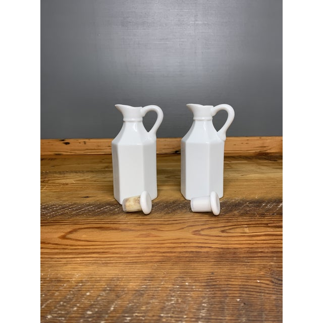 Made in China, vintage and really cute. Link Charter International Vintage bottles. 6 L x 2.25 W