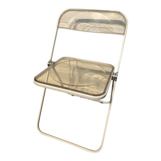 Vintage Lucite Folding Chair by Anomina Castelli, Italy For Sale