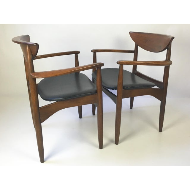 Lane Perception Modernist Armchairs - A Pair For Sale - Image 7 of 9