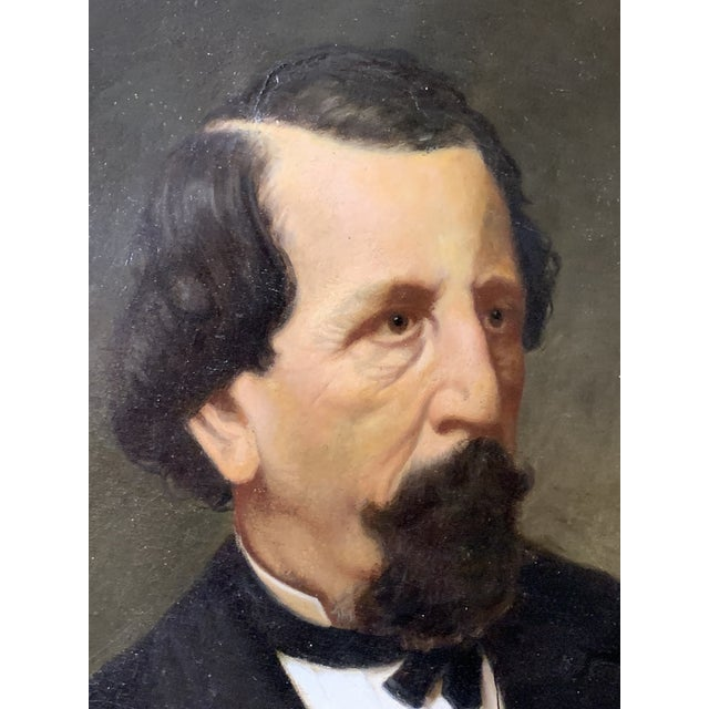 19th-Century Oil on Oval Canvas Portrait Painting For Sale - Image 11 of 13