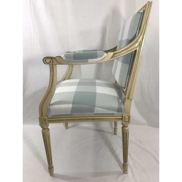 French Louis 16th Style Arm Chair For Sale - Image 3 of 6