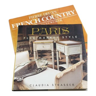 """Paris Flea Market Style"" + ""Pierre Deux's French Country"" Hardcover Books - Set of 2 For Sale"