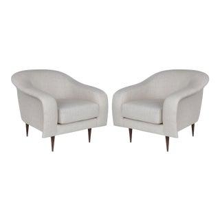 Brazilian Mid-Century Modern Club Chairs by Joaquim Tenreiro Re-Edition For Sale