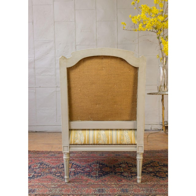 Pair of French Louis XVI Style Armchairs For Sale - Image 12 of 12
