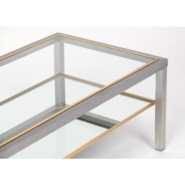 Silver Vintage French Modernist Coffee Table For Sale - Image 8 of 10