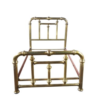 19th Century Victorian Brass Cannonball Full Double Bed Frame Preview