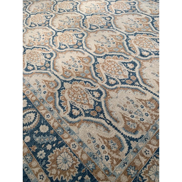 Traditional Pasargad 21st Century Tabriz Haj Jalili Hand-Knotted Rug - 9′9″ × 13′10″ For Sale - Image 4 of 9