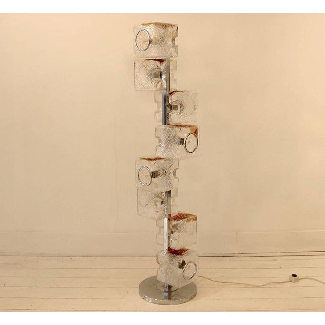 Glass Pair of 1960s VeArt Murano Glass Floor Lamps For Sale - Image 7 of 7