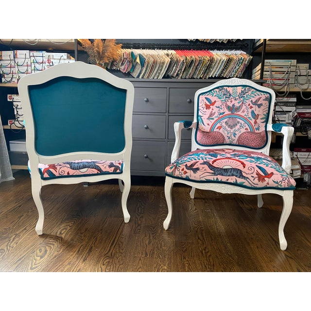 Edmond Louyot (b.1861-d.1920), French Vintage French Provincial Arm Chairs - a Pair For Sale - Image 4 of 10