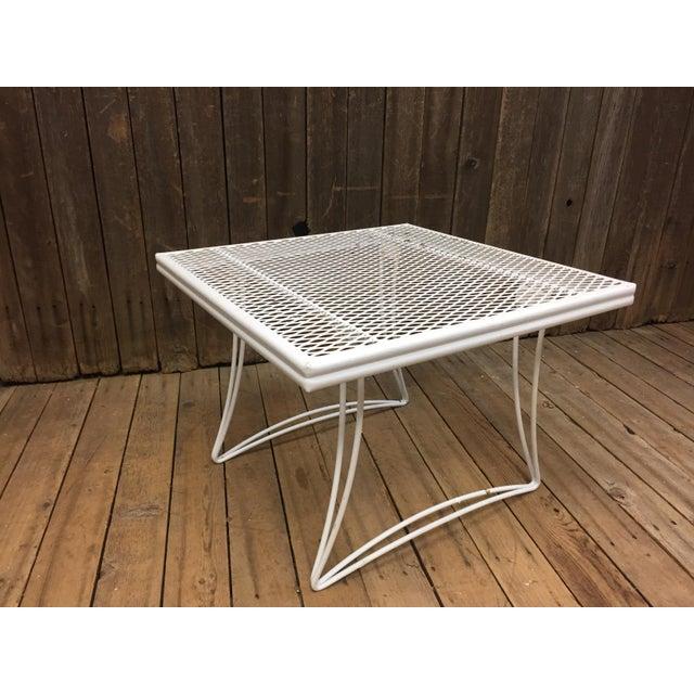 Mid Century Modern White Homecrest Side Table - Image 6 of 11