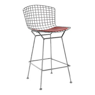 Bertoia Barstool With Seat Pad For Sale