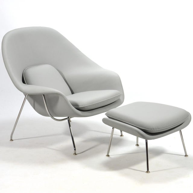 Eero Saarinen Womb Chair and Ottoman in Leather by Knoll - Image 2 of 11