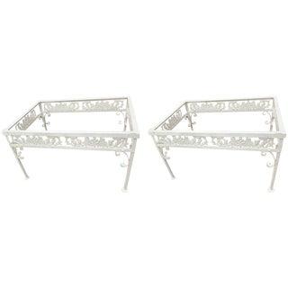 """Pair of Salterini """"Grape Vine"""" Side Table Frames, in White For Sale"""