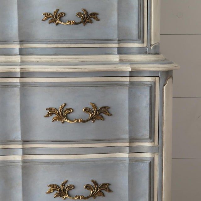 French Provincial Painted Highboy For Sale In Houston - Image 6 of 10