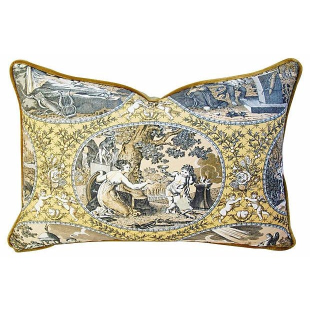 Designer Scalamandre Cupido Toile Pillows - Pair - Image 3 of 7
