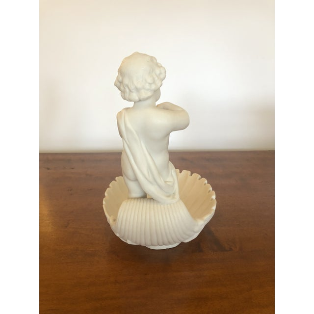Ceramic Parian Porcelain Shell Motif Dish With Sculptural Putti For Sale - Image 7 of 10
