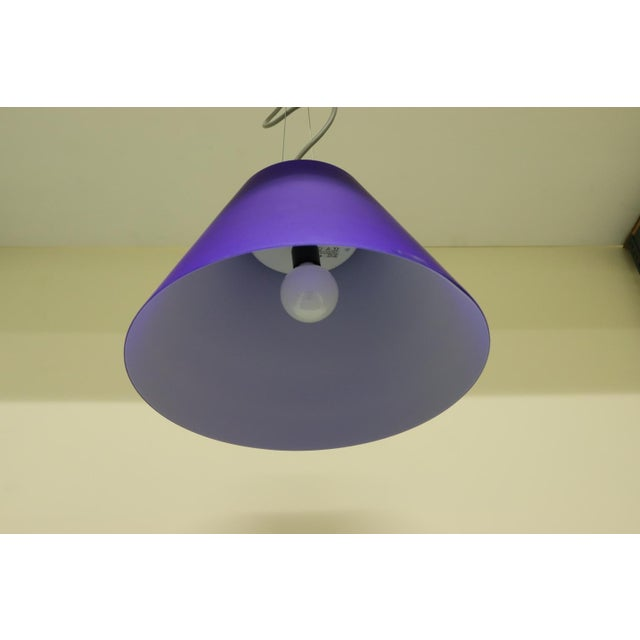 Glass Vintage Mid-Century Modern Murano Glass Pendant Lamp For Sale - Image 7 of 8