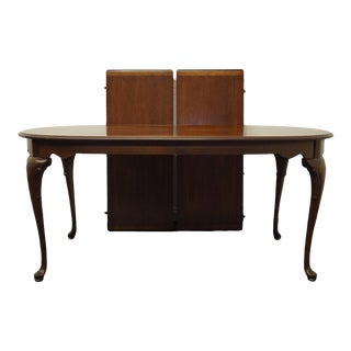 Statton Furniture Banded Mahogany Dining Table For Sale